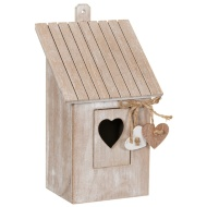 Wooden Bird House - Heart