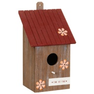 Wooden Bird House - Floral