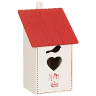 Wooden Bird House - Red