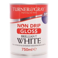Turner & Gray Non Drip Gloss - Brilliant White 750ml