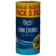 Ocean Fresh Tuna Chunks in Brine 5x145g