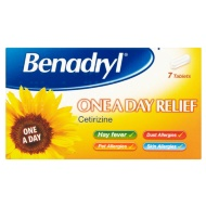 Benadryl One A Day Allergy & Hayfever Tablets 7pk