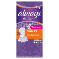 Always Fold Free Panty Liners 20pk