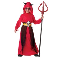 Boys Hooded Demon Robe Costume - Lord of Flames