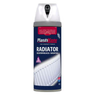 Plastikote Spray Paint - Radiator White Satin 400ml