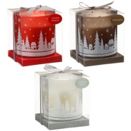 Fragranced Snow Scene Christmas Candle