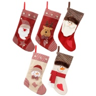 Rustic Character Christmas Stocking