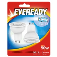 Eveready LED Bulbs GU10 50W 2pk