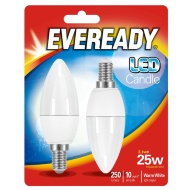 Eveready LED Candle Bulbs E14 25W 2pk