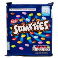 Nestle Smarties 4x38g Tubes