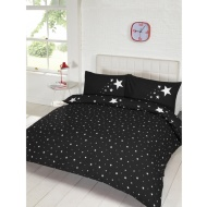 Glow in the Dark Double Duvet Set - Black