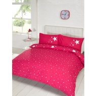 Glow in the Dark Double Duvet Set - Pink