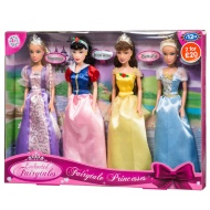 Fairytale Princess Dolls 4pk