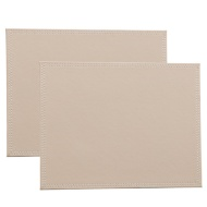 Leatherette Place Mats 2pk - Taupe