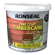 Ronseal One Coat Timbercare - Medium Oak 5L