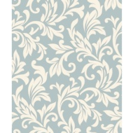 Rasch Allure Damask Wallpaper - Duck Egg