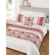 Lila Pintuck Bed in a Bag King Size Duvet Set