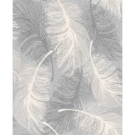 Coloroll Feather Motif Wallpaper - Grey