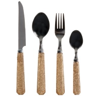 Sparkle Cutlery Set 16pc - Champagne