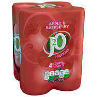 J2O Apple & Raspberry Juice Drink 4 x 250ml