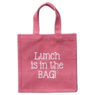 Jute Lunch Bag - Pink