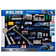 Large Diecast Police Set