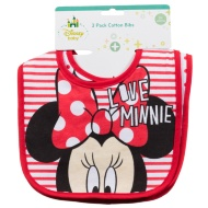 Disney Baby Bibs 3pk - Minnie Mouse Red