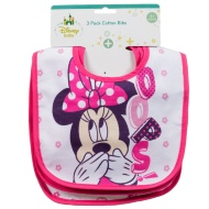 Disney Baby Bibs 3pk - Minnie Mouse Pink