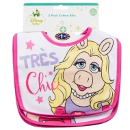 Disney Baby Bibs 3pk - Miss Piggy