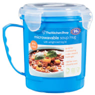 Microwaveable Soup Mug with Airtight Latching Lid