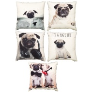 Printed Pugs Cushion