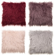 Monica Mongolian Fur Oversized Cushion