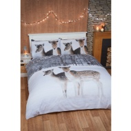 Winter Animals Brushed Cotton Duvet Set King Size