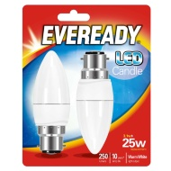 Eveready LED Candle Bulbs B22 25W 2pk