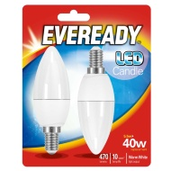 Eveready LED Candle Bulbs E14 40W 2pk