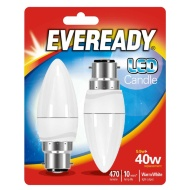 Eveready LED Candle Bulbs B22 40W 2pk