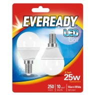 Eveready LED Golf Bulbs E14 25W 2pk