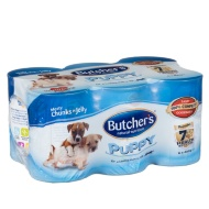 Butcher's Puppy Meaty Chunks in Jelly Tins 6 x 400g