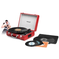 Intempo Retro Bluetooth Turntable - Red