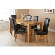 Newbury Oak Dining Set 7pc