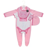 Been Inside For 9 Months Baby Clothing Set 5pc - Pink & White