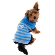 Doggy Jumper - X-Small - Small - Bone Stripe Blue