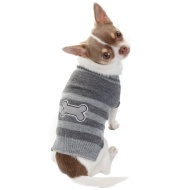 Doggy Jumper - X-Small - Small - Bone Stripe Grey