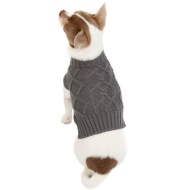 Doggy Jumper - X-Small - Small - Cable Knit Grey