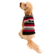 Doggy Jumper (XS, S) - Black & Red Stripes
