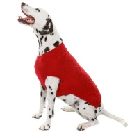 Doggy Jumper - Medium - X-Large - Cable Knit Red