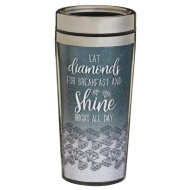 Sparkle Travel Mug - Eat Diamonds for Breakfast