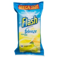 Flash Febreze Cleaning Wipes - Mediterranean Lemon 90s
