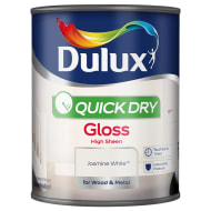 Dulux Quick Dry Gloss - Jasmine White 750ml