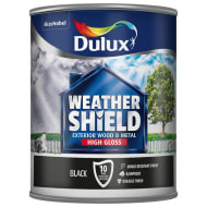 Dulux Weathershield High Gloss - Black 750ml